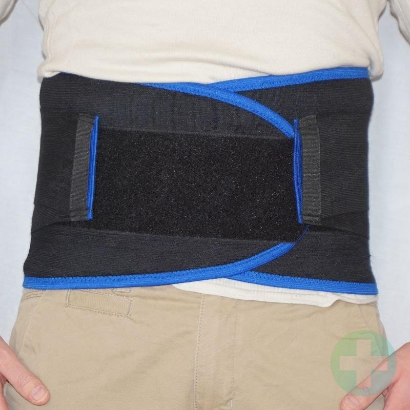 Fixing strong muguras josta bandāža ortoze H 24cm jostasvietas fiksācijai ar 3 lencēm un 4 šinām medicīniskā fiksējoša korsete