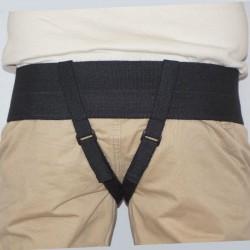 Extra comfort cirkšņu trūces josta vīriešu bandāža divdaļīga ar izņemamiem silikona spilventiņiem medicīniskā ortoze
