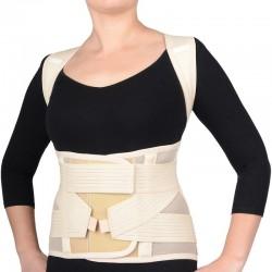 Extra premium class medicīniskais elastīgais stājas korektors ortoze jostas un krūšu daļas fiksators uz visu muguru