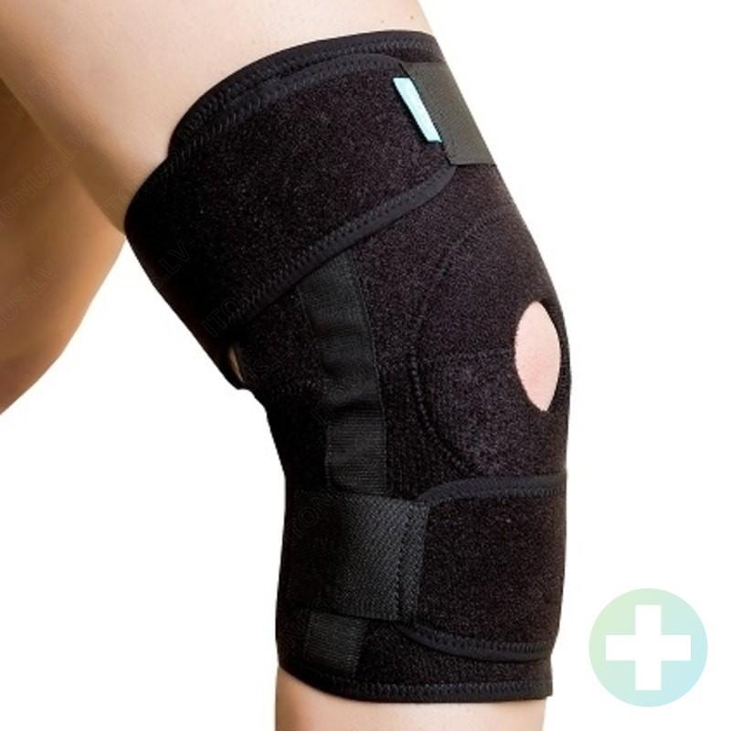 One size ceļa locītavas fiksējoša saite ortoze medicīniskais apsējs bandāža ar atsegtu ceļgalu fiksators skriešanai